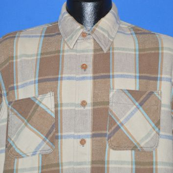 80s Checkered Big Mac Brown Flannel shirt Large