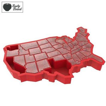 U Ice of A™ Red Silicone Ice Cube Tray