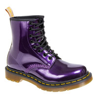 Dr Martens 1460 Vegan Chrome Metallic Dark Purple Boots, Doc