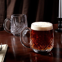 Dublin Cut Crystal Beer Mugs, Set of 2