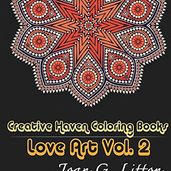 Creative Haven Coloring Books Love Art Vol2 Adult Man