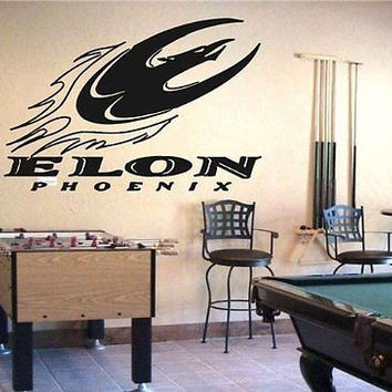 NCAA Elon Phoenix Logo Emblem Wall Art Sticker Decal (209)