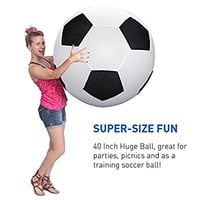 40 Inch Huge Ball - Inflatable Giant Soccer Ball – Black and White big soccer ball