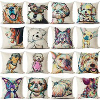 Cartoon dog Cushion Customized Throw Pillow Home Decorative