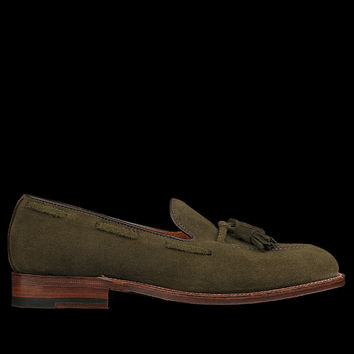UNIONMADE - Alden - Sutter Tassel Mocc in Hunting Green Suede D3101F