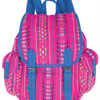 Pink Tribal Backpack