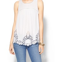Laurel Embroidered Top