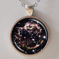 Astronomical Necklace -Supernova Remnant Cassiopeia A - Galaxy Series