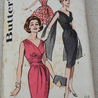 Vintage cocktail Dress Pattern // Butterick 9690 // Vintage sewing pattern // evening dress pattern // misses after- five dress