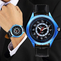 Fashion Business Leather Watch Sports Ultra-thin Watch for Women Men