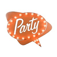 Party Marquee Sign