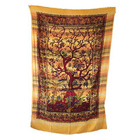 Handicrunch Indian Tapestry Wall Hanging Bohemian Nature Dorm Room Wall Tapestry, Home Decor Wall Hanging, Table Cloth Home Décor Bed Spread, Cotton Bohemian Tapestry, Hippie Tapestry