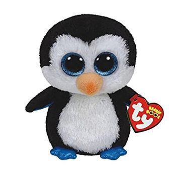 "Ty Beanie Boos Big Eyes Plush Toy Doll Black Penguin With Tag 6"" 15cm"