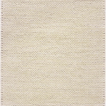 Fargo Collection 100% New Zealand Wool Braided Area Rug in Sand Dollar design by Surya