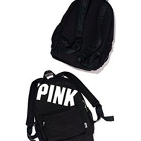 Victoria's Secret Pink Campus Backpack New (Black Animal Print)