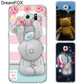 L252 Teddy Bear Soft TPU Silicone Case Cover For Samsung Galaxy Note 3 4 5 S5 S6 S7 Edge S8 Plus Grand Prime