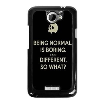 NORMAL IS BORING QUOTES HTC One X Case Cover