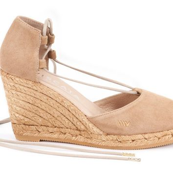 Aro Suede Wedges - Camel