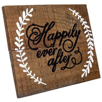 Happily Ever After Wood Sign with Easel | Hobby Lobby | 1123058