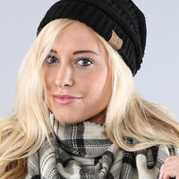 Coco and Main Black Knit Beanie | zulily