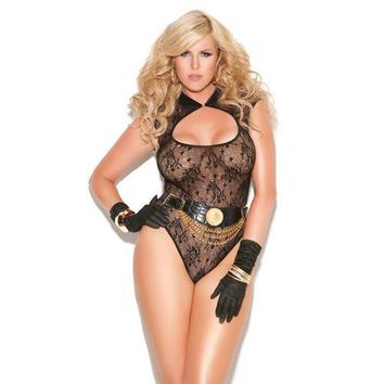 Vivace Lace Teddy Black QN