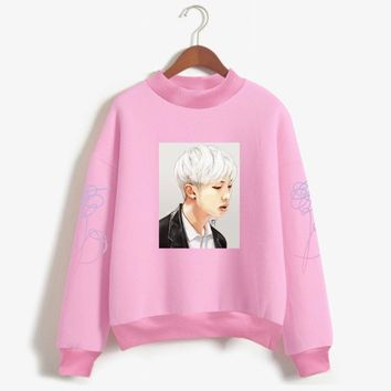 KPOP BTS Bangtan Boys Army Frdun Tommy Love Yourelf K-pop Sweatshirt Women   Boys Stay Picture Rap Monster Monster Fans Hoodie Sweatshirt Clothes AT_89_10