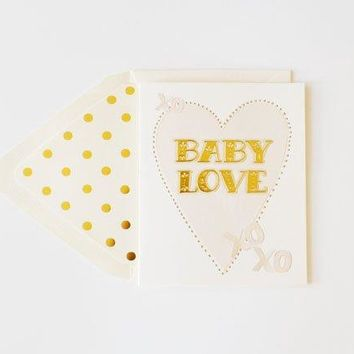 THE FIRST SNOW BABY LOVE GOLD FOIL CARD