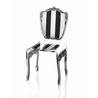 Chair Baroque - Black and White Striped | Sweetpea and Willow
