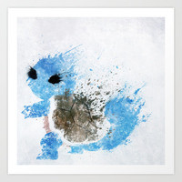 Squirtle Art Print by Melissa Smith