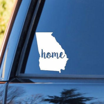 Georgia Home Decal | Georgia State Decal | Homestate Decals | Love Sticker | Love Decal  | Car Decal | Car Stickers | Bumper | 102