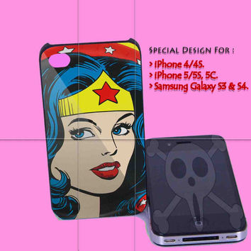 Wonder Woman for iPhone 4/4S Case, iPhone 5/5S, 5C Case - Samsung Galaxy S3 i9300, S4 i9500 Case.