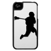 Lacrosse Player I-Phone Case from Zazzle.com