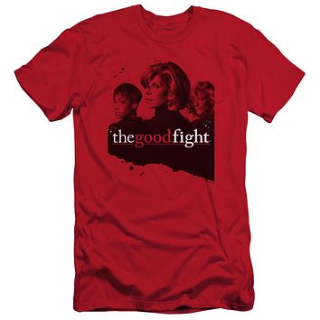 The Good Fight Slim Fit T-Shirt Cast Red Tee