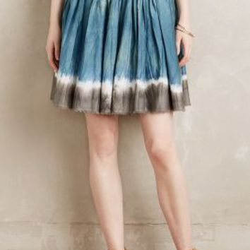 Vivien Ramsay Sea Isle Skirt in Blue Motif Size: