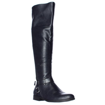 bar II Dolly Knee High Riding Boots - Navy