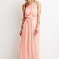 Chenille Embroidered Maxi Dress