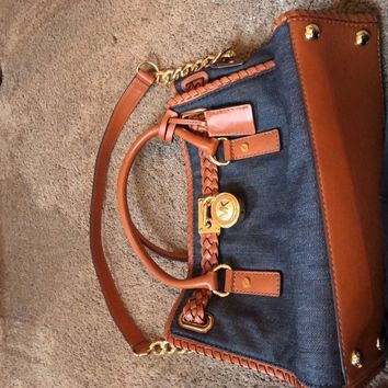 mk purse Jean and Leather