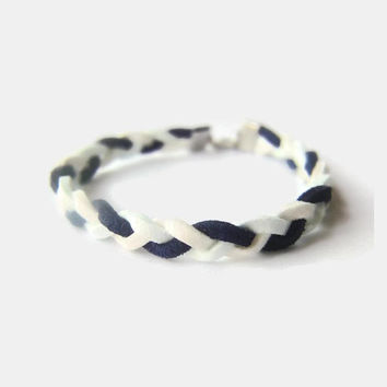 Braided bracelet, ALS awareness month, May, nautical, sky