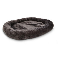 Petco Ultra Soft Grey Oval Donut Cat Bed