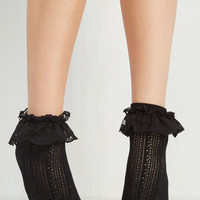 Dancing on Flair Socks in Black by ModCloth
