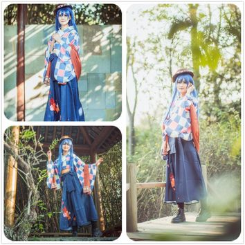 Love Live! Sonada Umi Taisho Kimono Unawakened Uniform Cosplay Costume Custom Made Adult Women Outfit Clothing Dress W0985