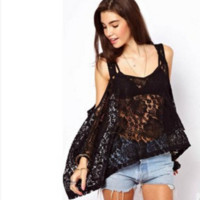 Strappy Lace Loose Top B0015079