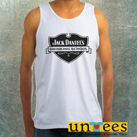 Jack Daniels Drinking School Clothing Tank Top For Mens
