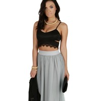 Black Enticing Crop Top
