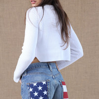Shorts Woman : American Flag Levis Shorts