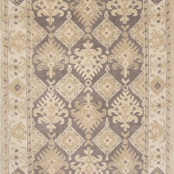 Jaipur Rugs Transitional Arts And Crafts Pattern Gray Wool Area Rug PEN02 (Rectangle)
