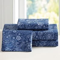 Junk Gypsy Paisley Cowgirl Sheet Set, Indigo