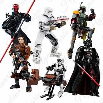 Star Wars Force Episode 1 2 3 4 5 2018 New  Kylo Ren Darth Vader Storm Trooper Building Blocks Figure Toys For Children Compatible with Lego  AT_72_6