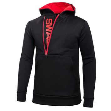 Zippers Pullover Hoodies [10669397187]