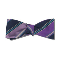 Penguin Purple & Lavender Silk Bow-Tie